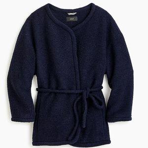 J Crew Wrap jacket in boiled wool